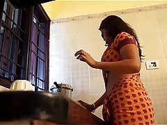 Indian Housewife Fucked In Standing Position In Kitchen