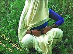 Radhika Bhabhi Opening Her Blouse Before Outdoor Sex