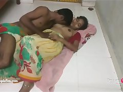 Hindi Telugu Couple Sex Passionate Love Sex on The floor