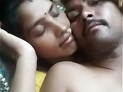 Indian Couple Getting Cosy (Snuggy) Wife Holding Hubby from Behind.mp4
